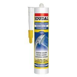 Soudal ecetsavas és fungicid tartalmú szaniter szilikon szürke 280ml