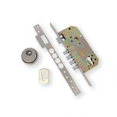 AMIG 110 cilinderes bevésőzár 50/85 szögletes előlappal + pajzs