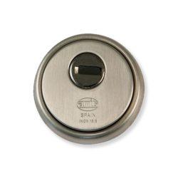 AMIG 30 Cilinderpajzs kerek szatén-nikkel