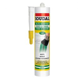 Soudal festhető akril szilikon fehér 280 ml (103228)