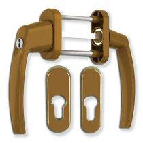 Victory erkélyajtó átmenő kilincs garnitúra Bronz kulcsos