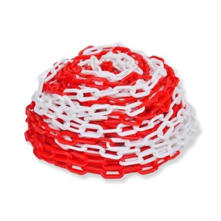 Műanyag lánc piros-fehér 53mm Q6mm