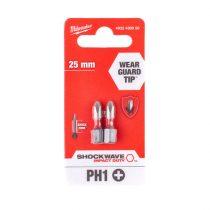 Milwaukee Shockwave bit PH1 25mm (2db)