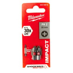 Milwaukee Shockwave bit PH2 25mm (2db)