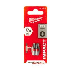 Milwaukee Shockwave bit PH3 25mm (2db)