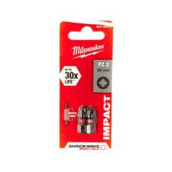 Milwaukee Shockwave bit PZ2 25mm (2db)