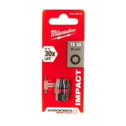 Milwaukee Shockwave bit TX30 25mm (2db)