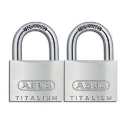 Abus Titalium Twins 2 db-os lakat szett 40 mm
