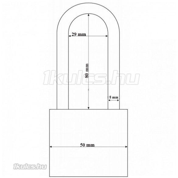 Abus 727TI/50 HB80 Titalium lakat