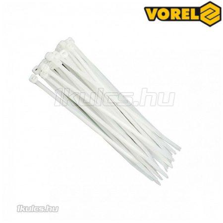 VOREL kábelkötegelő fehér 150x2,5mm (100db/cs)