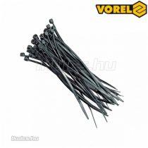 VOREL kábelkötegelő fekete 300x3,6mm (100db/cs)