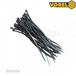 VOREL kábelkötegelő fekete 370x4,8mm (100db/cs)