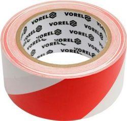 Vorel 75233 jelzőszalag, közúti, piros-fehér 7,5 cm x 100 m