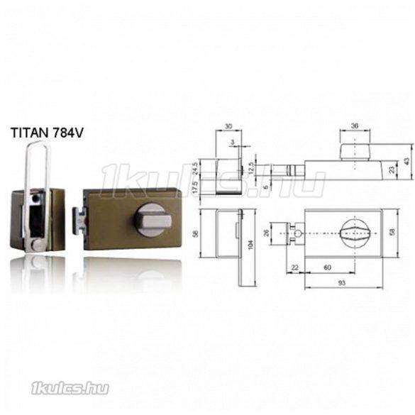 Titan 784V fordítógombos határólós másodzár