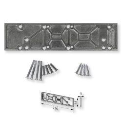 BKS ajtócsukó 430/440 alátét/szerelőlemez fehér