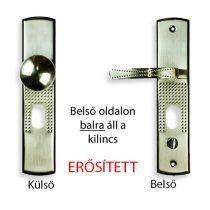 Hi-Sec bizt. ajtó kilincs gombos (bal)