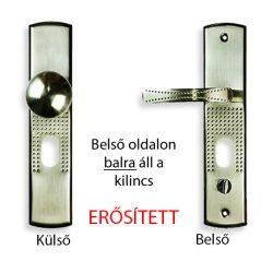 Kínai bizt. ajtó kilincs gombos (bal)