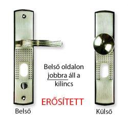 Hi-Sec bizt. ajtó kilincs gombos (jobb)