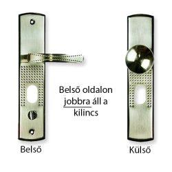 Hi-Sec bizt. ajtó kilincs elfordítható gombos (jobb), világítás nélkül