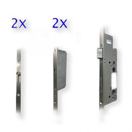 Euro Elzett 35/92/16 2 csapos+2 görgős kilincs műk. ajtózár