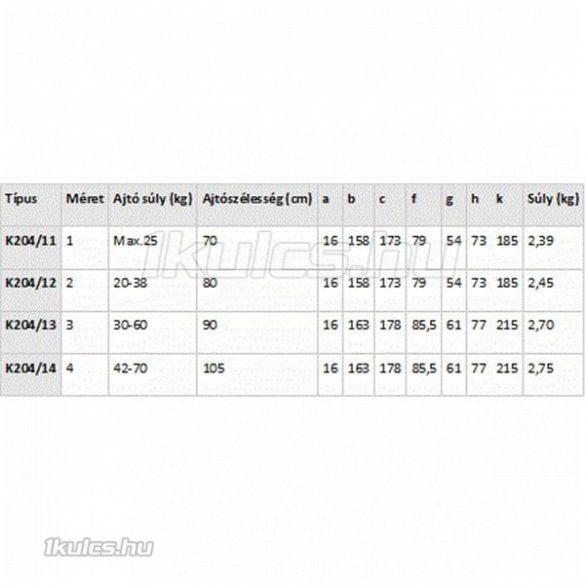 Brano R/12/14 ajtóbehúzó 42-70 kg