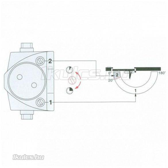 Dorma TS-68 fehér ajtóbehúzó