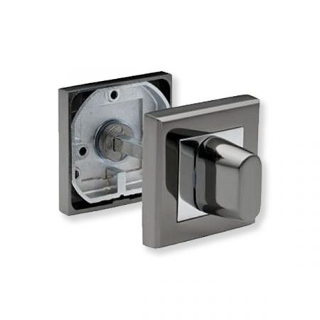 Bussare Comfort négyzet rozetta Satin Chrome WC