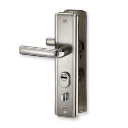 Exkluzív acél ajtó kilincs bal erősített