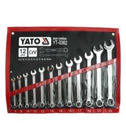 Yato YT-0362 Csillag-villás kulcs készlet 12r 8-24-ig CrV