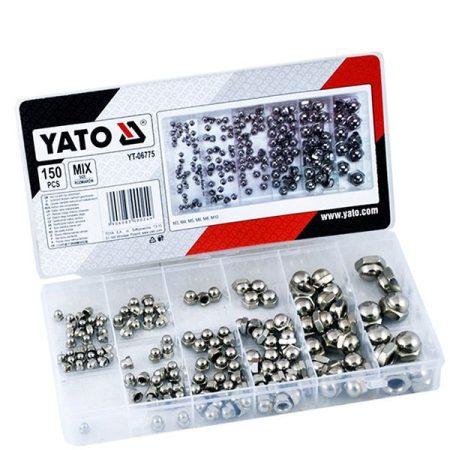 Yato YT-06775 NUTS metrikus rozsdamentes acél menet készlet (150 db/cs)