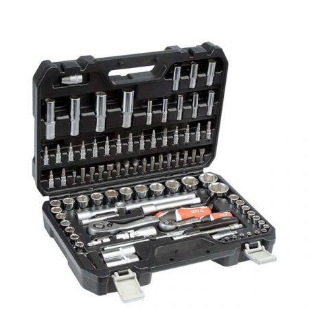 Yato YT-12681 Dugókulcs készlet 94 részes 1/2 coll: 10-32 mm, 1/4 coll: 4-14 mm CrV