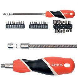 Yato YT-25972 Csavarhúzó flexibilis 1/4 coll 31 részes