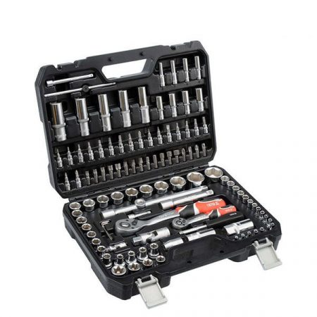 """Yato YT-38791 Dugókulcs készlet 108 részes 1/2  10-32mm, 1/4 """" 4-14mm CrV"""""""