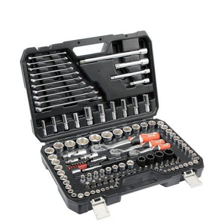 Yato YT-38801 Dugókulcs készlet 120 részes 1/2 coll 20-32, 1/4 coll 4-13, 3/8 coll 9-17 profi CrV S2