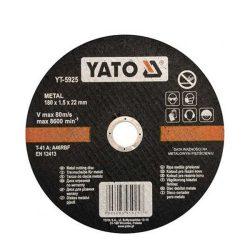 Yato YT-5925 Vágókorong fémre 180x1,5x22