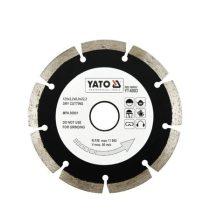 YATO gyémánt vágótárcsa 125 mm szegmentált (YT-6003)
