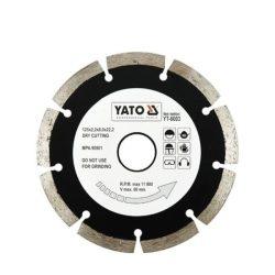 YATO gyémánt vágótárcsa 125 mm szegmentált