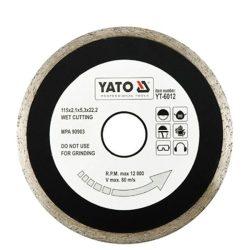 Yato YT-6012 Gyémánt vágótárcsa 115 mm folytonos
