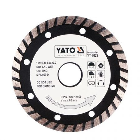 Yato YT-6022 Gyémánt vágótárcsa 115 mm turbo