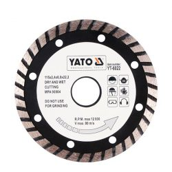 Yato YT-6023 Gyémánt vágótárcsa 125 mm turbo