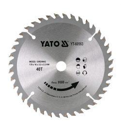 Yato YT-60583 Fűrésztárcsa fához 170/40/16