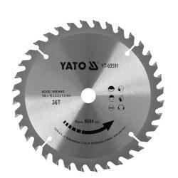 Yato YT-60591 Fűrésztárcsa fához 165/36/16