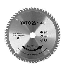 Yato YT-60623 Fűrésztárcsa fához 185/60/20