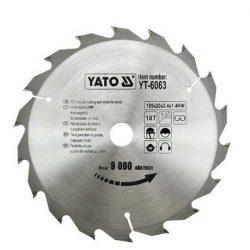 Yato YT-6063 Fűrésztárcsa fához 185/20/18