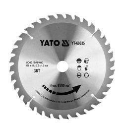 Yato YT-60635 Fűrésztárcsa fához 190/36/20