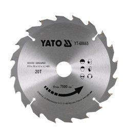 Yato YT-60665 Fűrésztárcsa fához 210x30 mm 20T