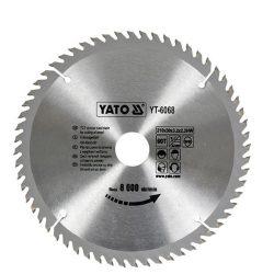 Yato YT-6068 Fűrésztárcsa fához 210/30/60