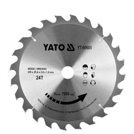 Yato YT-60685 Fűrésztárcsa fához 235x25,4 mm 24T