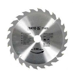 Yato YT-6070 Fűrésztárcsa fához 250/30/24