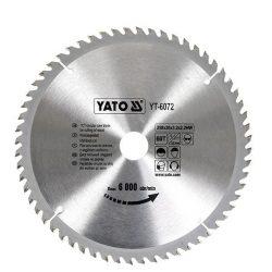 Yato YT-6072 Fűrésztárcsa fához 250/30/60